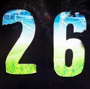 26 on a wheelie bin in Godalming - Andy Hayes