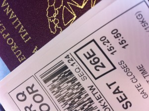 Ryanair boarding pass - no choosing seat. Happened to be 26 and E - Elise Valmorbida