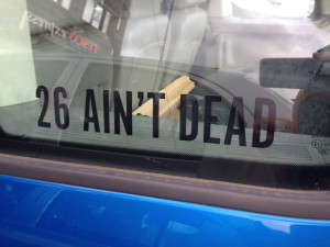 26 spotted in a car at the Tall Ships festival in Falmouth - Suzie Cunliffe.