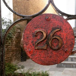 Wrought iron gate in West London by Susan Evans
